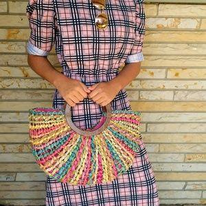 Vintage | Cappelli colorful wooden straw bag